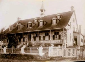 The boarding house at the end of the 19th century.
