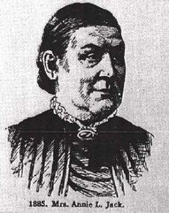 Annie L. Jack in 1885