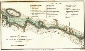 Sketch of the Battle of La Fourche or Châteauguay, 1815