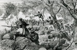 illustration representing the 1813 Battle of Châteauguay