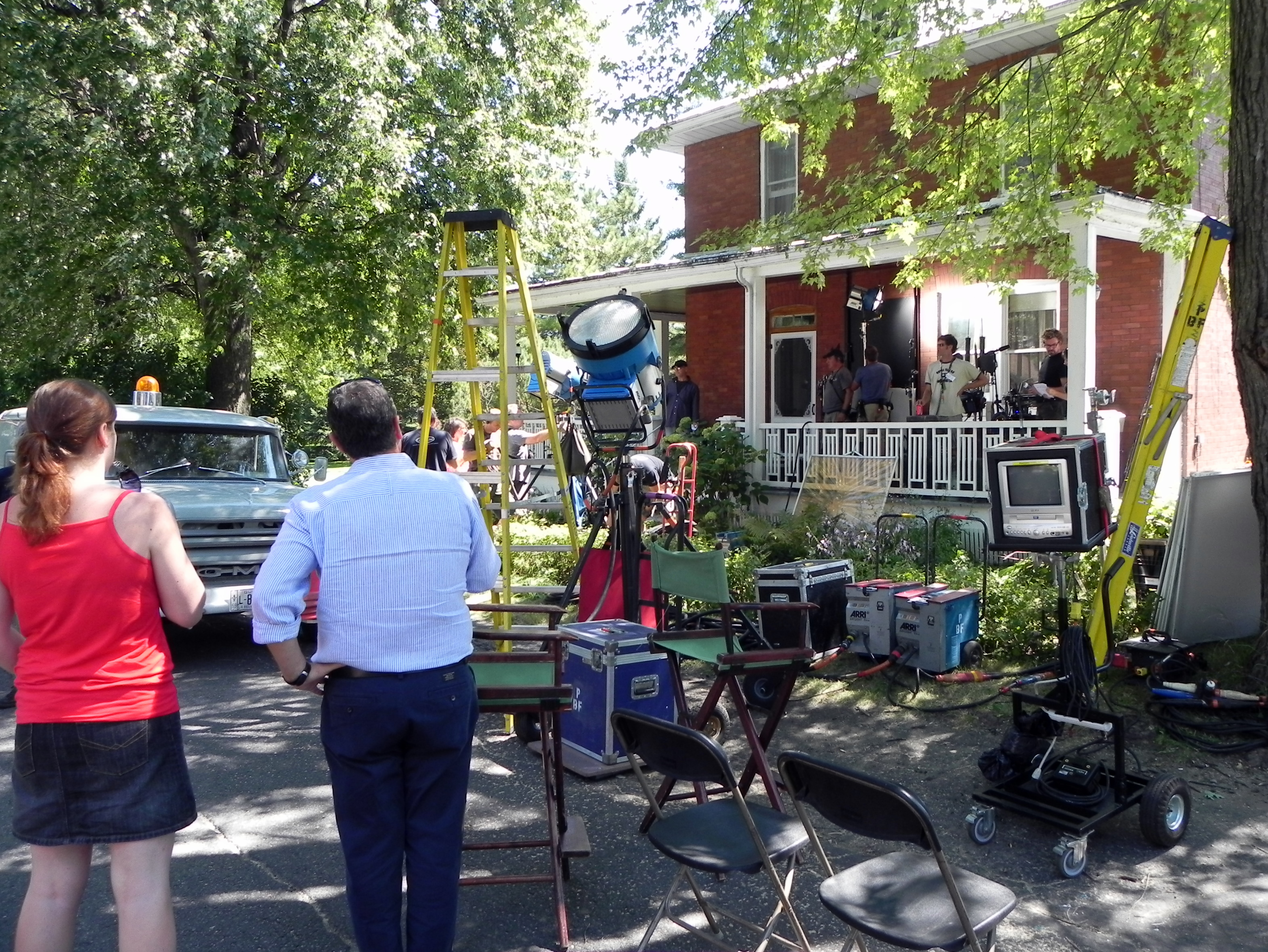 Movie set in Châteauguay
