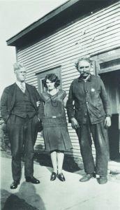 Joseph Allard with his daughter and a friend in 1930.