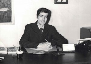 Raymond Laberge at his desk in 1970
