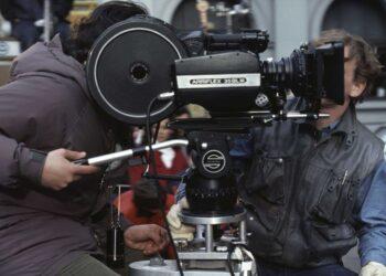 Caméraman with his camera