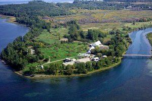 Vue aérienne de l'Ile Saint-Bernard