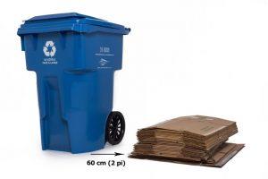 Bac de recyclage bleu