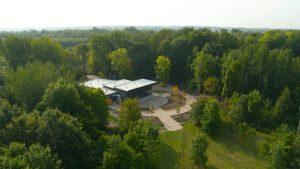 Vue aérienne du Centre écologique Fernand-Séguin