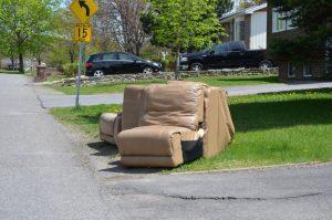 Sofa on the curb