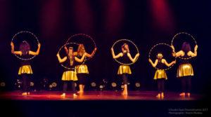 Danseuse de danse cerceau