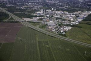 Vue aérienne du parc industriel de Châteauguay