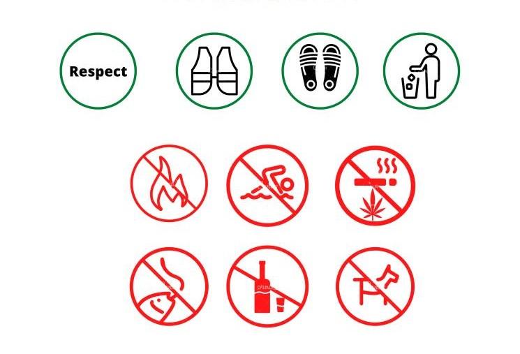 Pictogrammes d'autorisations et d'interdictions