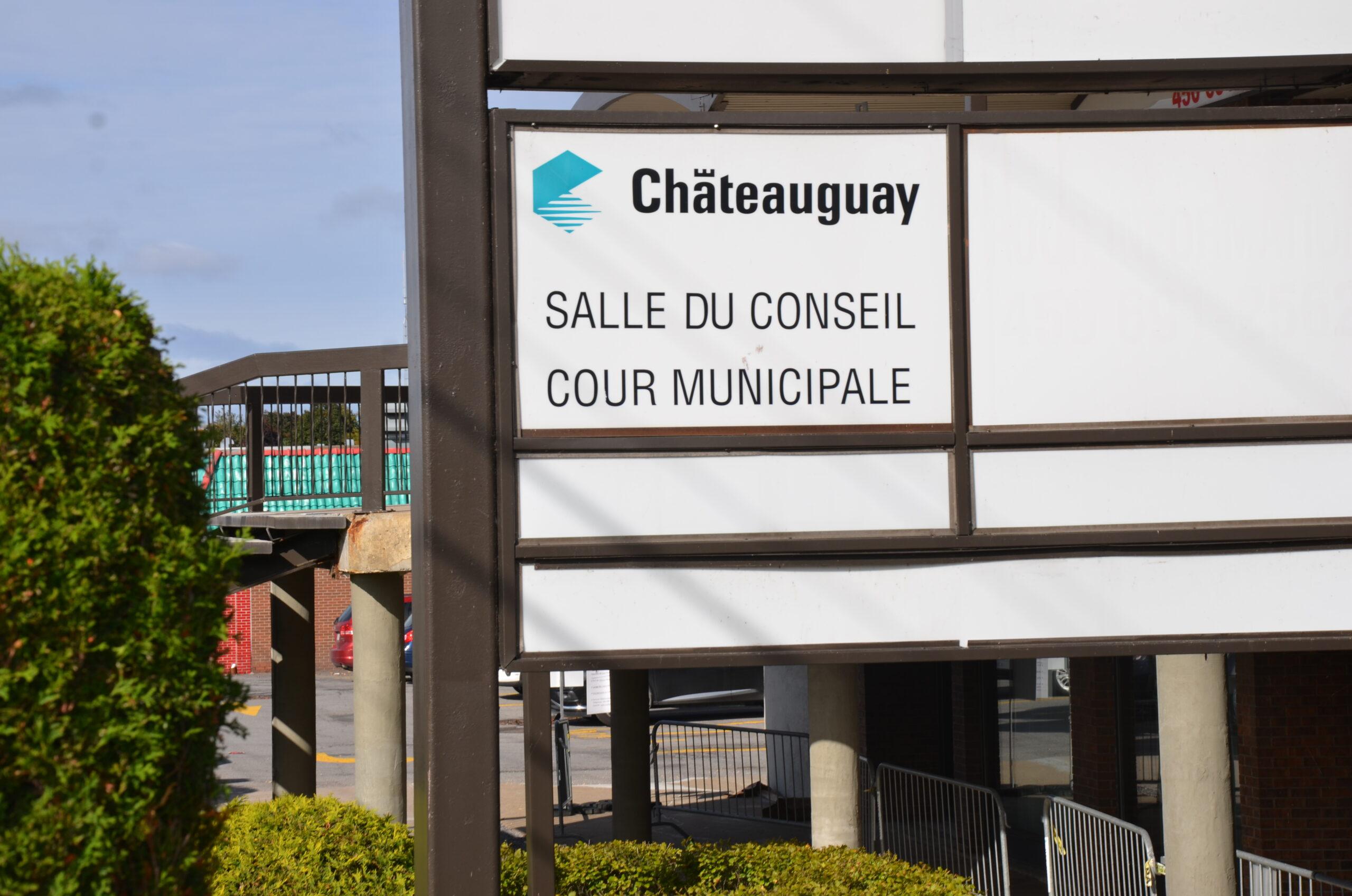 Municipal court sign