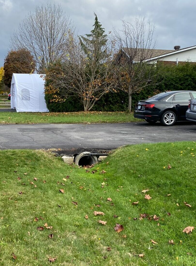 Culvert and ditch