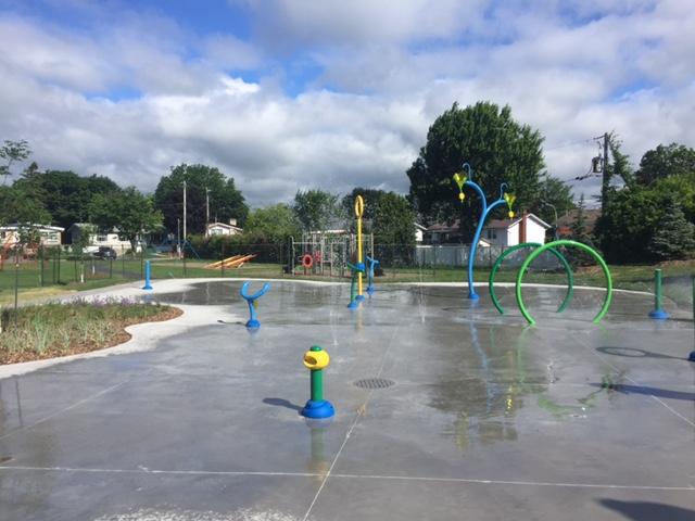 jeux d'eau d'un parc