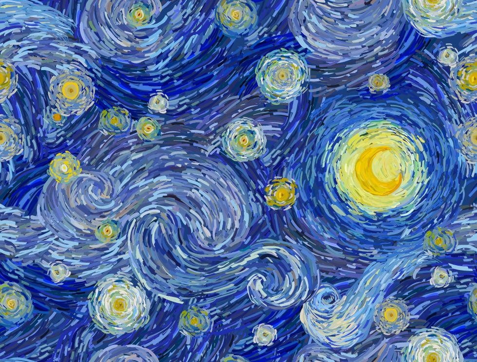peinture d'étoiles et d'une lune