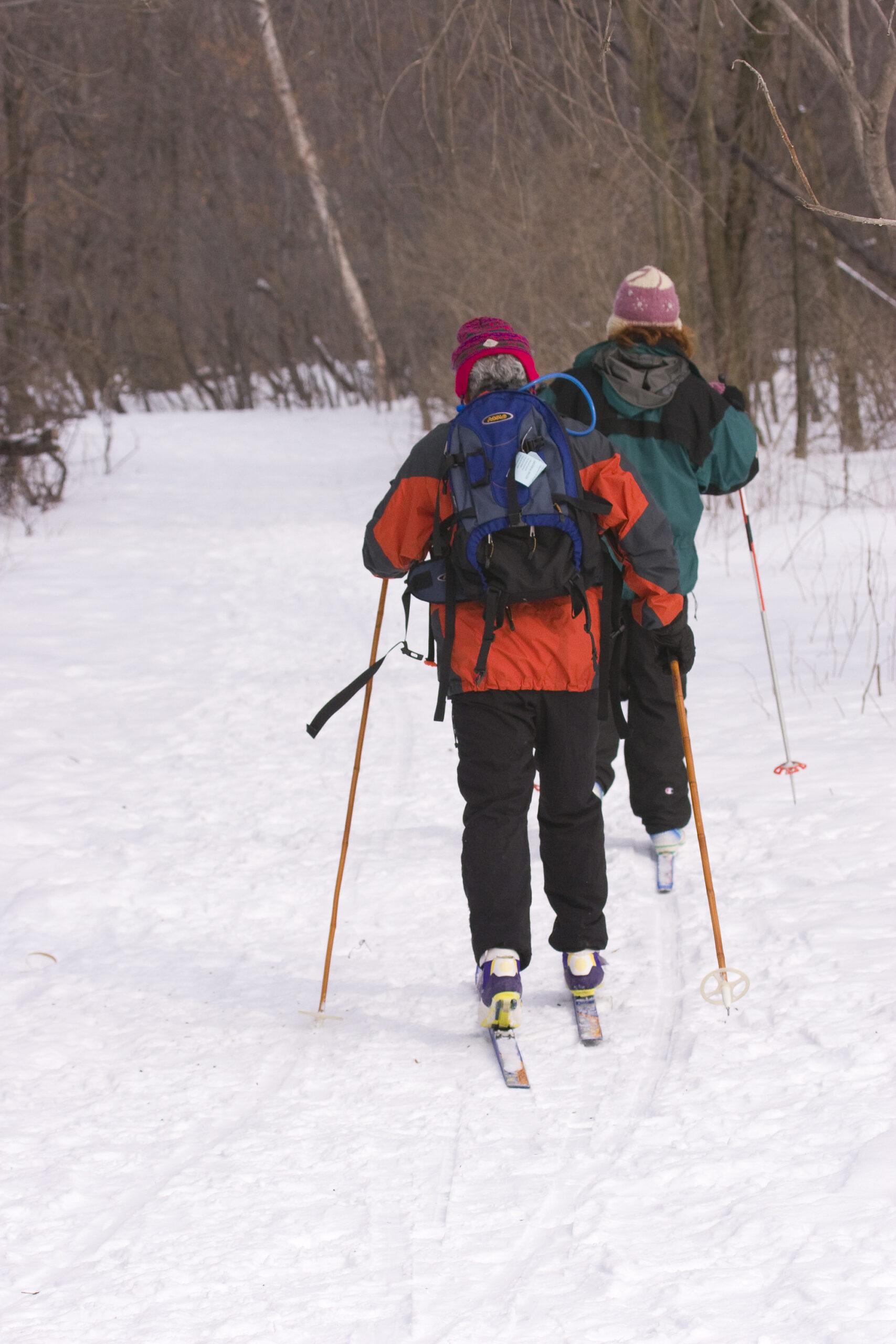 Deux adeptes du ski de fond